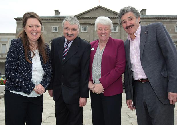 Joanna Tuffy, Willie O'Dea, Catherine Byrne and John Halligan take part in TV3's 'Dail on the Dole'.