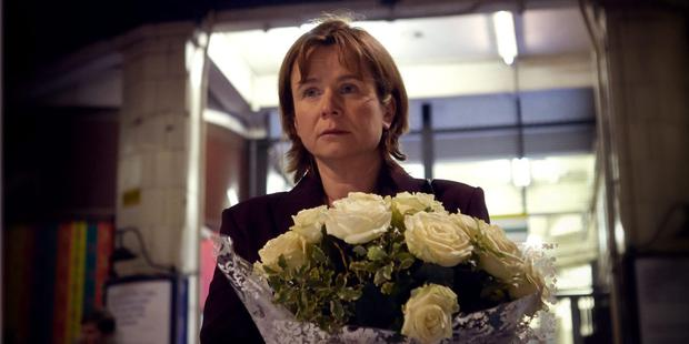 Tears: Emily Watson as grieving vicar Julie Nicholson in A Song for Jenny