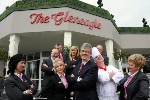 Catering for the masses: Staff at the Gleneagle