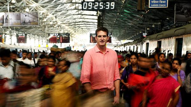 Leaving at the first stop: Dan Snow, one of four presenters the BBC dispatched to bring us World's Busiest Railway