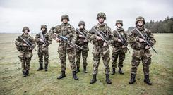 Four-letter abuse: Some of the Recruits turning out on RTE.