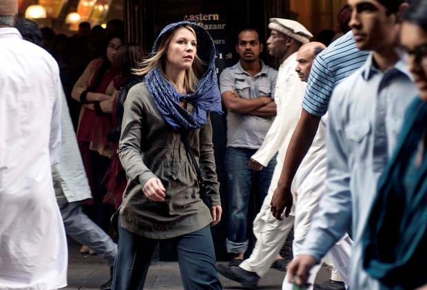 Claire Danes as Carrie in Homeland