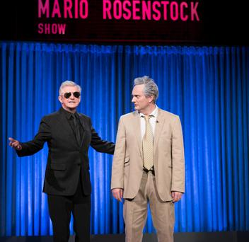 What satire: Rosenstock as Vincent Browne with the real Louis Walsh.