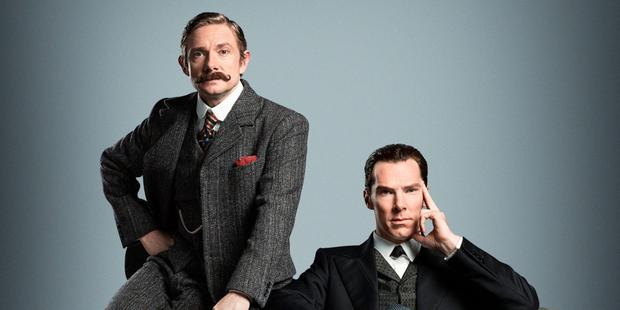 Benedict Cumberbatch as Holmes and Martin Freeman as Dr Watson in Sherlock