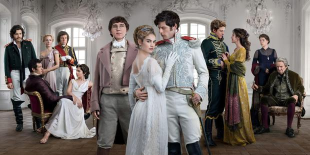 Period drama: The cast of War and Peace — which has been compressed into six episodes