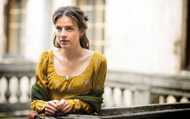 Aisling Loftus as Sonya in the BBC's War and Peace