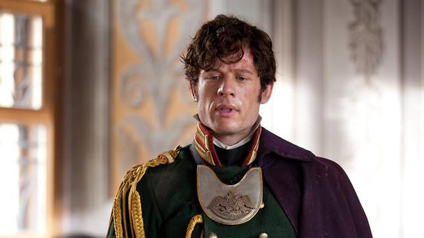Drawn-out demise: James Norton as Andrei.