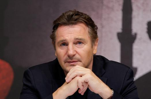Hollywood glamour: Neeson narrates the latest Rising offering on our TV screens.