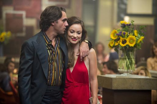 Commanding: Bobby Cannavale as Richie and Olivia Wilde as his wife, Devon Finestra, in Vinyl.