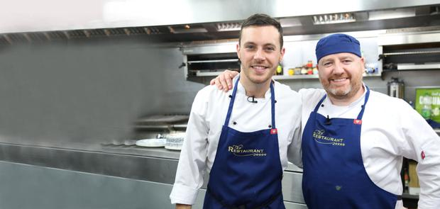 Welcome return: Country crooner Nathan Carter took part in TV3's 'The Restaurant' with chef Gary O'Hanlon