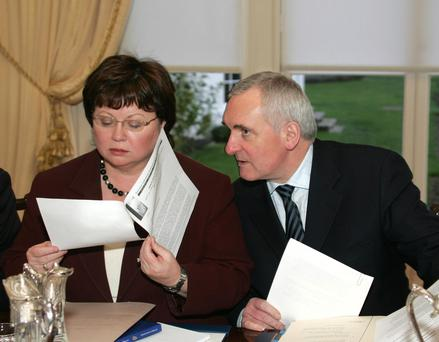 Price of power: Mary Harney of the PDs and Bertie Ahern of Fianna Fáil during their coalition.