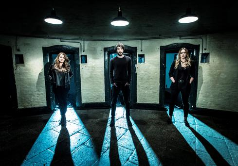 Dramatic: Aoife Scott, Danny O' Reilly and Roisin O' Reilly perform at Kilmainham for RTÉ's extravaganza Centenary.