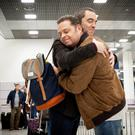 Manchester re-united: Adam (James Nesbitt) hooks up with Pete (John Thomson)