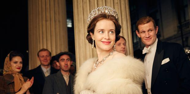 Star turns: Claire Foy and Matt Smith in The Crown on Netflix