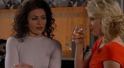 Mel was seen reassuring Bethany Platt that there was noting unusual about the amount of men that were at Nathan's party [ITV]