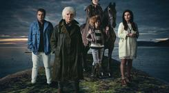 Riding into a storm: Alfie, Agnes, Lance, Adeen and Kathleen in Redwater