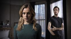 Horror story: Denise Gough as Paula and Tom Hughes as James in the new RTÉ series