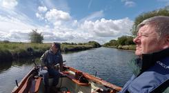Lonesome boatmen: Colin Stafford-Johnson and John Creedon at Lecarrow on RTÉ's Creedon's Shannon