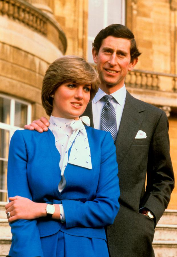 Happier times: The late Diana pictured in 1981 with Britain's Prince Charles