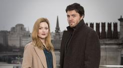 Lovingly evoked: Holliday Grainger and Tom Burke in Strike: The Cuckoo's Calling