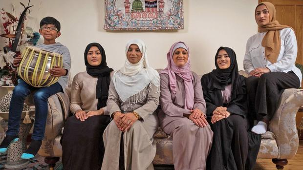 My Week as a Muslim with Katie in prosthetic nose and hijab, third right