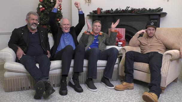 Casting couch: Mel Gibson, John LIthgow, Will Ferrell and Mark Wahlberg get to grips with Irish telly on Gogglebox Ireland