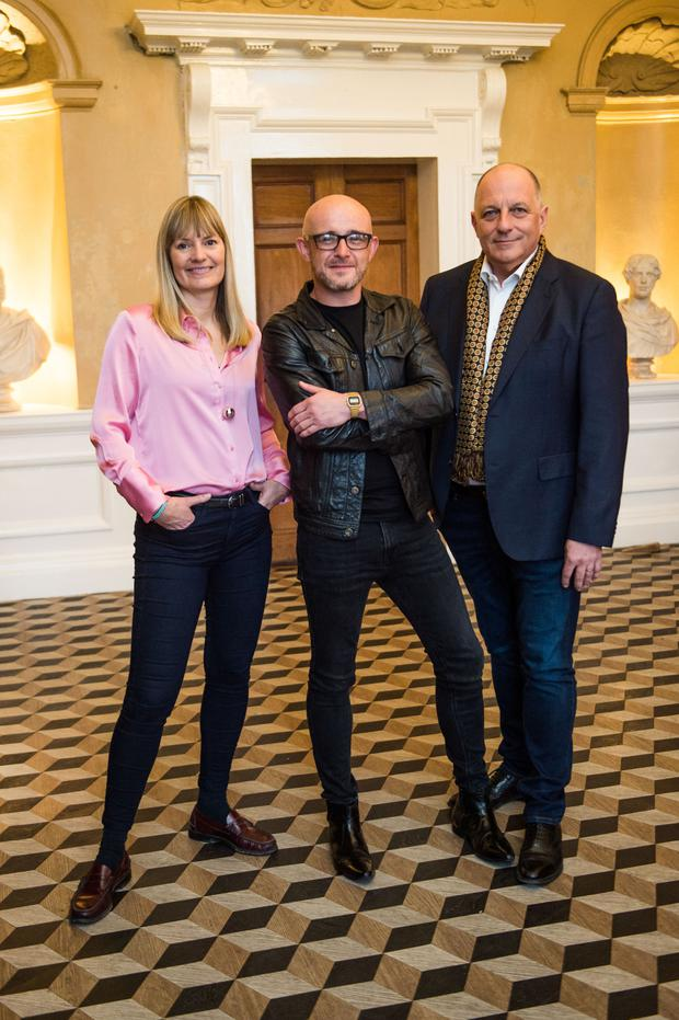 Wow factor: Home of the Year judges Deirdre Whelan, Patrick Bradley and Hugh Wallace. Photo: Ruth Medjber