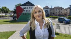 Thankless task: Miriam O'Callaghan in Derry for The Long March
