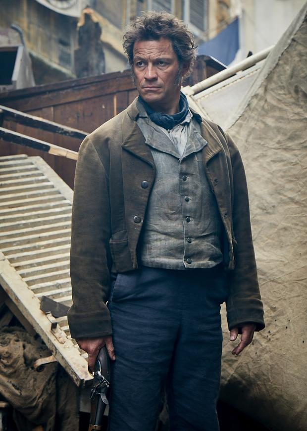 Resentful energy: Dominic West as Jean Valjean in Les Misérables