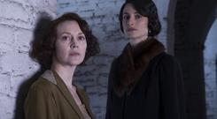 Fiery women: Simone Kirby as Ursula and Natasha O'Keeffe as Agnes in Resistance