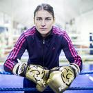 Competitive streak: Katie Taylor is now based in Connecticut