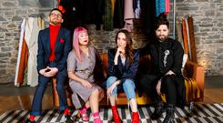 Fashion police: Paddy Smyth, Zoe Carol, Ciara O'Doherty and Ruedi Maguire in The Fitting Room
