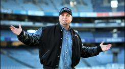 Standing outside the fire: Garth Brooks promoting his ill-fated concerts at Croke Park in 2014. Photo by Steve Humphreys