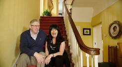 Stairway to heaven: Peter and Kathleen Cullen in Under the Clock
