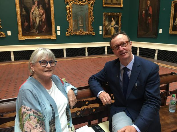 House of Art: Síghle Bhreathnach Lynch, former curator at the National Gallery of Ireland, and presenter Mick O'Dea