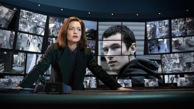 Tense opener: DI Rachel Carey (Holliday Grainger) and Shaun Emery (Callum Turner) in The Capture. Photo by Guy Farrow