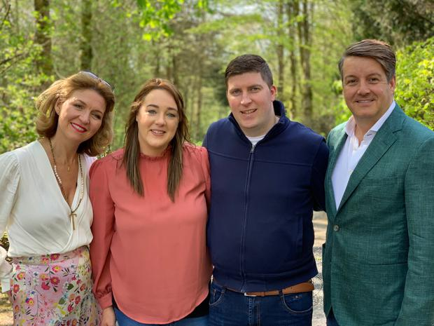 Wedding planning: Tara and Bruce with school sweethearts Alice and Chris (centre) on My Big Day: Home or Away