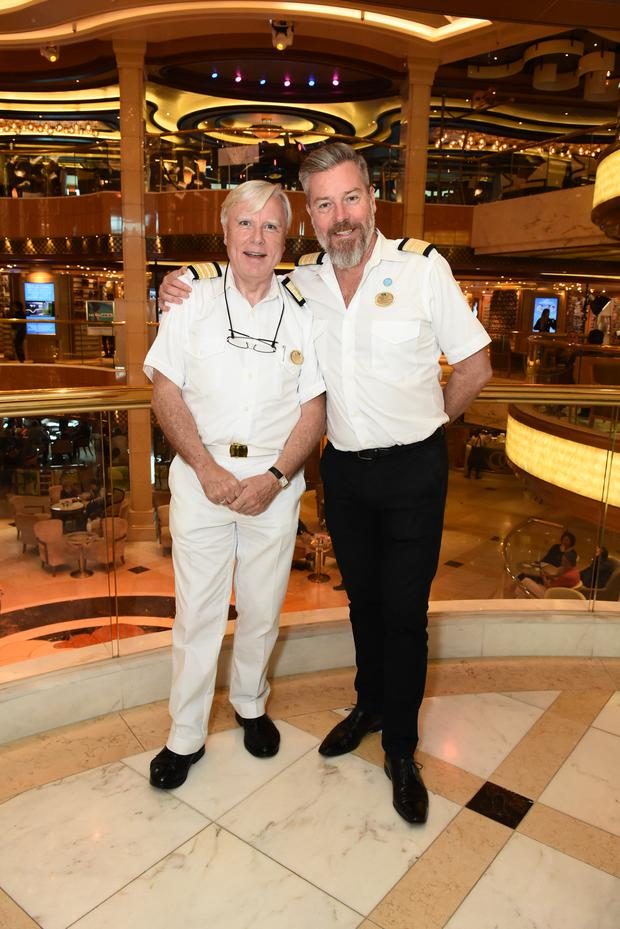 Francis Brennan with entertainment director Martyn Moss on All Hands on Deck