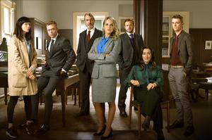 The cast of legal drama Striking Out