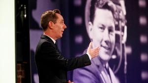 Ryan Tubridy pictured on RTÉ One's The Late Late Show - Gay Byrne Tribute. Picture Andres Poveda