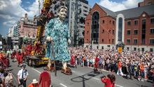 Wow factor: Royal DeLuxe present the Grandmother in Liverpool ahead of its arrival in Limerick in September