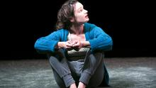 Unrelentingly dark: Aoife Duffin in A Girl Is A Half-formed Thing. Photo: Fiona Morgan.