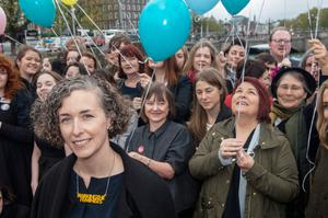 Powerful moment: It is now over four years since the key events of #WakingTheFeminists, the protests led by designer Lian Bell. Photo: Kyran O'Brien