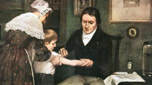 Historic license – Dr Jenner Performing His First Vaccination, 1796, by Ernest Board