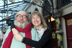 Dramatic Duo: Catherine Byrne and John Olohan met in 1977 at the Abbey School of Acting and now have two sons, Jack and Max. Photo: Tony Gavin