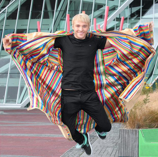 Cast member Lloyd Daniels (of X Factor fame) at the Bord Gais Energy Theatre prior to the opening of 'Joseph and the amazing Technicolour Dreamco'
