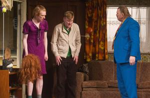 The Gleeson clan: From left, Domhnall, Brian and Brendan in The Walworth Farce by Enda Walsh