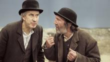 Grasping for hope: Barry McGovern and  Johhny Murphy as Vladimir and Estragon in the 2001 film Waiting for Godot