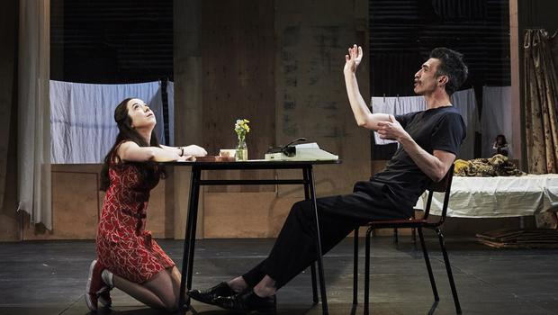 Amy McAllister and Mark O'Halloran in 'The Shadow Of A Gunman' by Sean O'Casey, running at the Abbey.