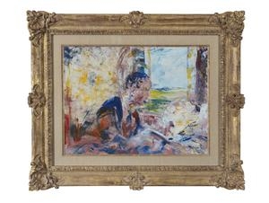 Postponed: The Sick Bed (1950) by Jack B Yeats is one of two Yeats paintings going under the hammer at Adam's next auction of Important Irish Art